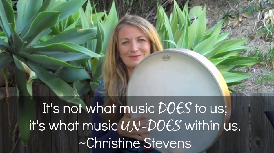 Christine Stevens Drumming Music Therapy