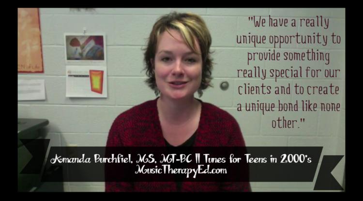 Amanda Ferris, MS, MT-BC   Tunes for Teens