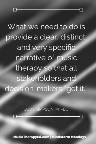 Judy Simpson, MT-BC | Mindstorm Mondays