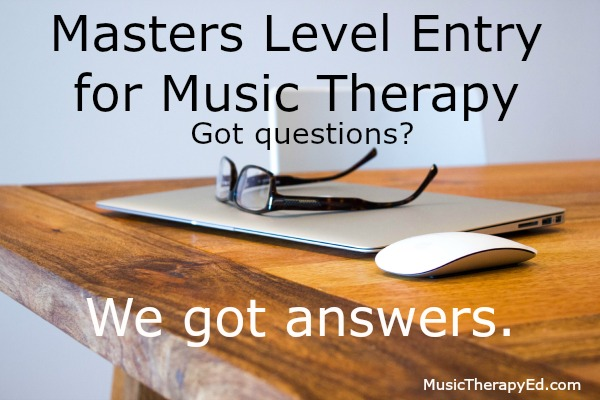 Music Therapy Masters Level Entry